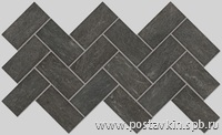 плитка Burlington Black Mosaico 5x10