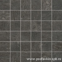 плитка Burlington Black Mosaico 5x5