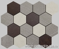 плитка Outdoor Policromatico Mosaico Hexagonal
