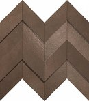 плитка Dwell Brown Leather Chevron 3D