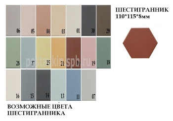 плитка Hexagon Shema And Colore