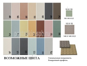 плитка Textured Surfaces Square Studs