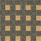 плитка Palace Living Gold 118036 Mosaici Chesterfield Nero Oro
