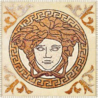 плитка Palace Living Gold 118440 Rosoni Medusa Almond
