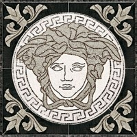 плитка Palace Living Gold 118446 Rosoni Medusa Black