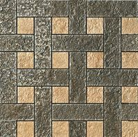 плитка Palace Stone 114344 Mosaici Chesterfield Nero Beige