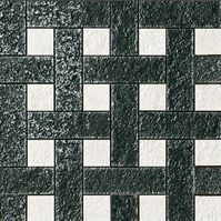 плитка Palace Stone 114347 Mosaici Chesterfield White Black